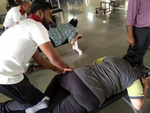 chiropractic therapy at krumur healthcare at pune facility in ghorpadi gaon