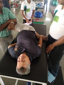 Chiropractic therapy at Krumur Healthcare in Pune