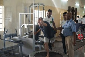 Spine Injury rehabilitation at Krumur healthcare in pune