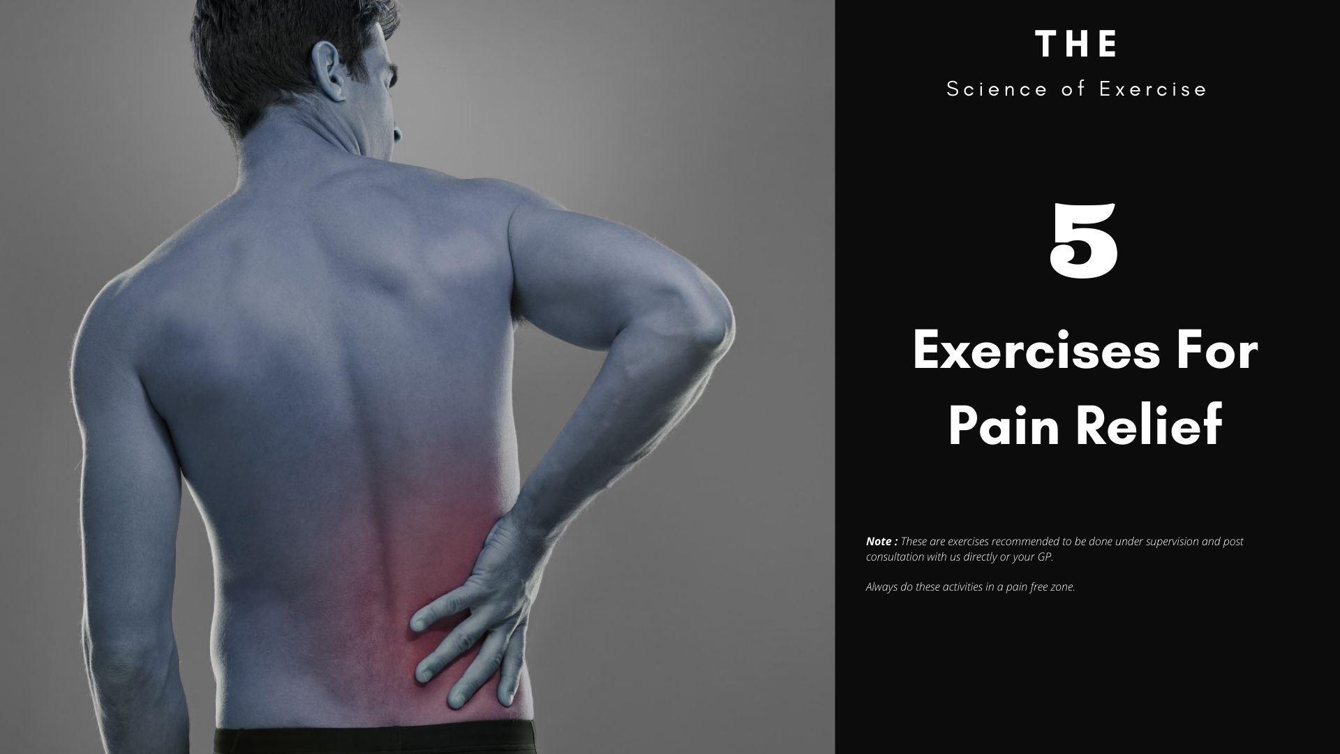 6 Exercises For Pain Relief
